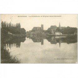 carte postale ancienne 89 AUXERRE. CAthédrale et Hôpital Saint Germain 1925