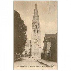 carte postale ancienne 89 AUXERRE. Clocher Eglise Saint Germain