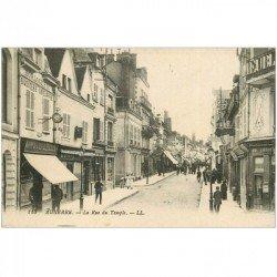 carte postale ancienne 89 AUXERRE. Horlogerie et Ebéniste Rue du Temple 1922