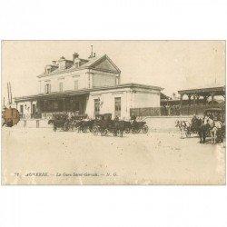 carte postale ancienne 89 AUXERRE. La Gare Saint Gervais 1918. En l'état...