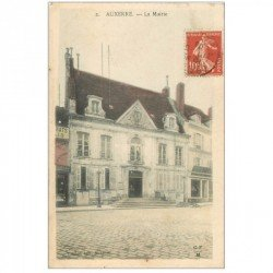 carte postale ancienne 89 AUXERRE. La Mairie timbré en 1908 mais verso vierge