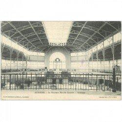 carte postale ancienne 89 AUXERRE. Le Nouveau Marché Couvert 1905 timbre absent