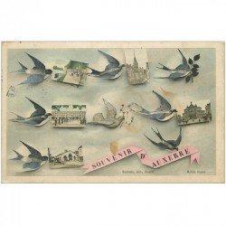 carte postale ancienne 89 AUXERRE. Multivues avec Hirondelles 1907