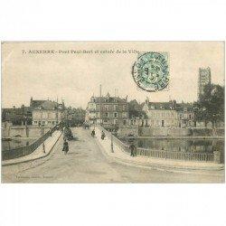 carte postale ancienne 89 AUXERRE. Pont Paul Bert à l'Entrée de la Ville 1907