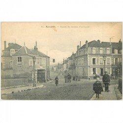 carte postale ancienne 89 AUXERRE. Route de Saint Florentin Hôtel Fiacre et Café Armand