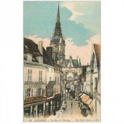 carte postale ancienne 89 AUXERRE. Rue de l'Horloge 1919
