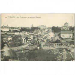 carte postale ancienne 89 AVALLON. Les Fondereaux vue des Chaumes 1905
