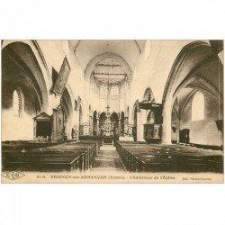 carte postale ancienne 89 BRIENON SUR ARMANCON. Intérieur de l'Eglise 1928