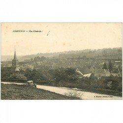 carte postale ancienne 89 CERISIERS. Voiture sur la Route du Village 1926