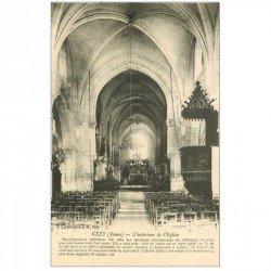 carte postale ancienne 89 CEZY. Intérieur de l'Eglise.