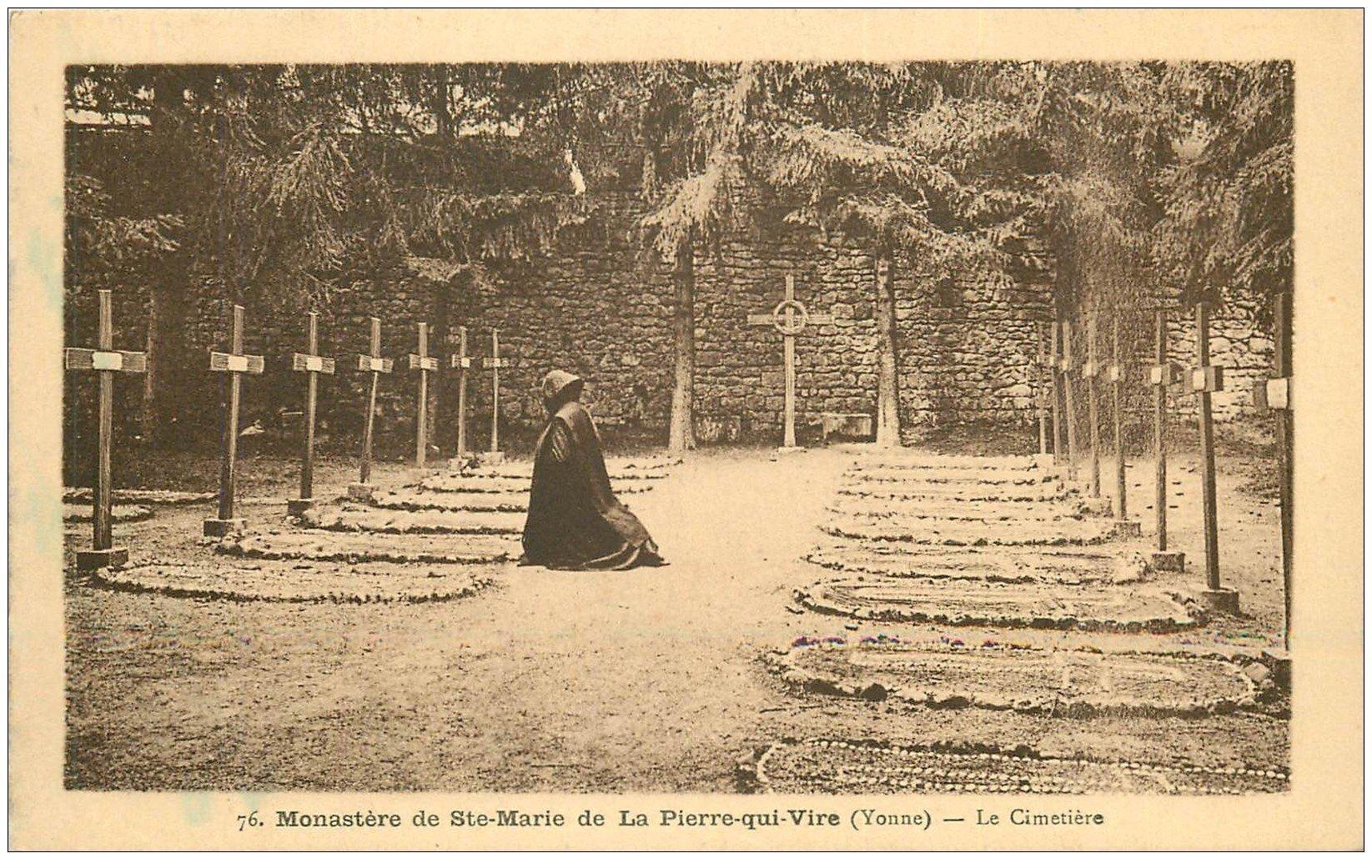 Pierre De L Yonne 89 la pierre qui vire. monastère de sainte marie le cimetière