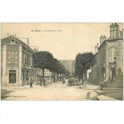 carte postale ancienne 89 SENS. Bureau Octroi Avenue de la Gare