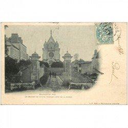 carte postale ancienne 89 SENS. Couvent de Sainte Colombe côté Ferme 1904
