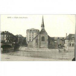 carte postale ancienne 89 SENS. Eglise Saint Maurice