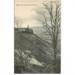carte postale ancienne 89 SENS. En grimpant Saint Bond 1909