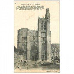carte postale ancienne 89 SENS. La Cathédrale