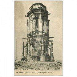 carte postale ancienne 89 SENS. La Cathédrale le Campanile