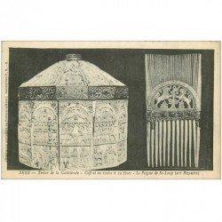 carte postale ancienne 89 SENS. La Cathédrale Trésor Coffret et peigne de Saint Loup
