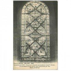 carte postale ancienne 89 SENS. La Cathédrale Vitrail Saint Eustache