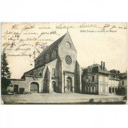 carte postale ancienne 89 SENS. La Cour de l'Hôpital 1915