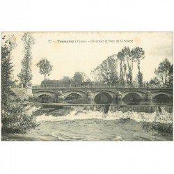 carte postale ancienne 89 TONNERRE. Déversoir et Pont de la Scierie.