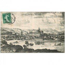 carte postale ancienne 89 TONNERRE. La Ville en 1630. Timbrée en 1908