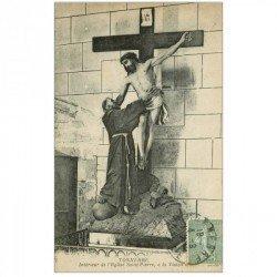 carte postale ancienne 89 TONNERRE. La Vision Eglise Saint Pierre 1924