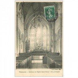 carte postale ancienne 89 TONNERRE. Nef Eglise Saint Pierre 1908