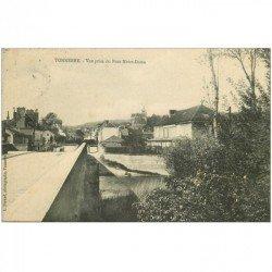 carte postale ancienne 89 TONNERRE. Pont Notre Dame 1910