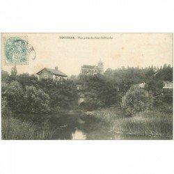 carte postale ancienne 89 TONNERRE. Vue du Pont Saint Nicolas 1906