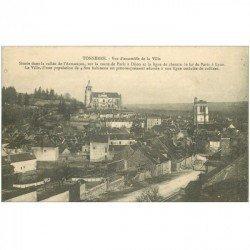carte postale ancienne 89 TONNERRE. Vue ensemble de la Ville 1914