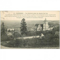 carte postale ancienne 89 TONNERRE. Vue prise du Chemin de Fer 1915