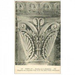 carte postale ancienne 89 VEZELAY. Basilique Châpiteau 5° Pilier Nef 217