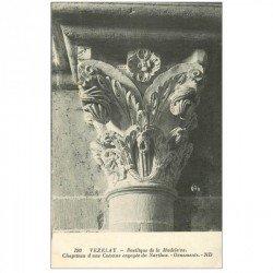 carte postale ancienne 89 VEZELAY. Basilique Châpiteau Colonne Narthex