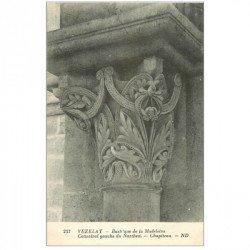 carte postale ancienne 89 VEZELAY. Basilique Chapiteau Narthex