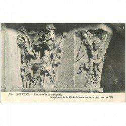carte postale ancienne 89 VEZELAY. Basilique Châpiteau Porte 231