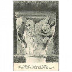 carte postale ancienne 89 VEZELAY. Basilique Démon à Cheval sur Griffon