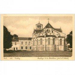 carte postale ancienne 89 VEZELAY. Basilique Madeleine Abside