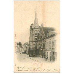 carte postale ancienne 02 LA FERTE-MILON. Eglise Saint-Nicolas 1902