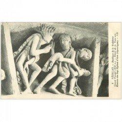 carte postale ancienne 89 VEZELAY. Basilique Portail. Sept Eglises Asie 9