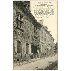 carte postale ancienne 89 VEZELAY. Maison de Théodore de Bèze Boucherie