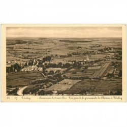 carte postale ancienne 89 VEZELAY. Panorama de Saint Père