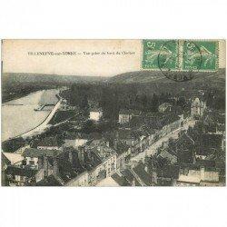 carte postale ancienne 89 VILLENEUVE SUR YONNE. Vue prise du Clocher 1919