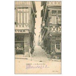 carte postale ancienne 14 LISIEUX. Boulangerie Rue de la Paix 1909