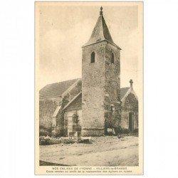 carte postale ancienne 89 VILLIERS LA GRANGE. L'Eglise