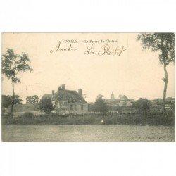 carte postale ancienne 89 VINNEUF. La Ferme du Château 1904