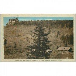carte postale ancienne 90 BALLON D'ALSACE. Le Chalet Bonaparte et Hôtel Lalloz 1935