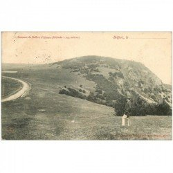 carte postale ancienne 90 BALLON D'ALSACE. Promeneur au Sommet 1905