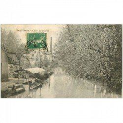 carte postale ancienne 90 BAVILLIERS. Canal de l'Usine 1916