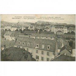 carte postale ancienne 90 BELFORT. Au fond Château et Fort de Justice 1915